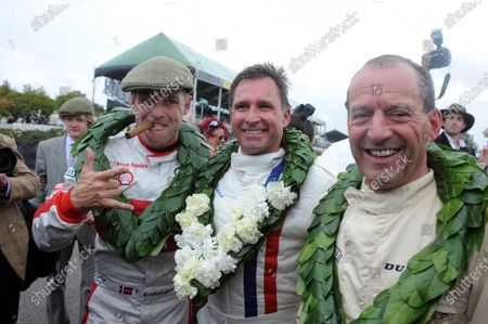 Goodwood Estate, West Sussex, 15th - 18th September 2011 St.Mary's Trophy Race 1 Tom Kristensen, Paul Radisich and Jackie Oliver, portrait.  World Copyright:Jeff Bloxham/LAT Photographic Ref: Digital Image