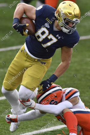 Editorial image of Syracuse Notre Dame Football, South Bend, United States - 05 Dec 2020