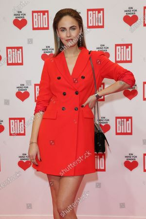Stock Picture of Elena Carriere arrives for the 'Ein Herz Fuer Kinder' ('A Heart for Chidren') Gala at Studio Berlin Adlershof in Berlin, Germany, 05 December 2020. German television channel ZDF and newspaper 'Bild' collected donations for children's charity organizations in Germany and the whole world.