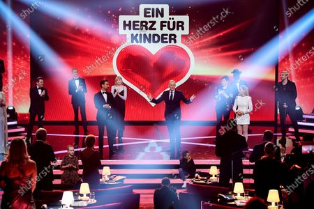 Stock Picture of Presenter Johannes B. Kerner (C) hosts the 'Ein Herz Fuer Kinder' (lit: A Heart for Children) gala show in Berlin, Germany, 05 December 2020. German television channel ZDF and newspaper 'Bild' collected donations for children's charity organizations in Germany and the whole world.