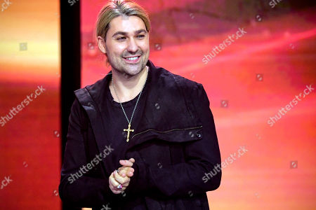 Stock Image of epa08865014 German violinist David Garrett attends the 'Ein Herz Fuer Kinder' (lit: A Heart for Children) gala show in Berlin, Germany, 05 December 2020. German television channel ZDF and newspaper 'Bild' collected donations for children's charity organizations in Germany and the whole world. EPA-EFE/CLEMENS BILAN / POOL