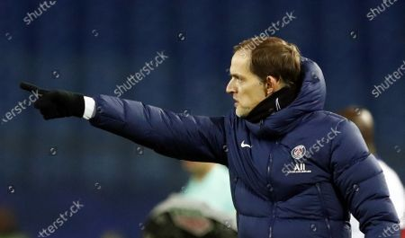 Thomas Tuchel, head coach of Paris Saint Germain reacts during the French Ligue 1 soccer match between Montpellier HSC and Paris Saint Germain, in Montpellier, France, 05 December 2020.