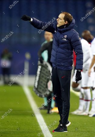 Stock Picture of Thomas Tuchel, head coach of Paris Saint Germain reacts during the French Ligue 1 soccer match between Montpellier HSC and Paris Saint Germain, in Montpellier, France, 05 December 2020.