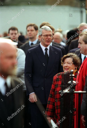 Former Prime Minister John Major Pictured Outside St. Margaret's In Westminster London Where The Funeral Of Politician Enoch Powell Was Held.
