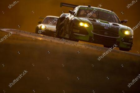 American Le Mans Series.  Laguna Seca, Monterey, California. 15th - 17th September 2011.  Bruno Junqueira / Kenny Wilden, Jaguar RSR, Jaguar XKR.  Action.  Photo: Drew Gibson/LAT Photographic.