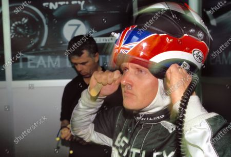 Le Mans, France. 14th - 15th June 2003. Johnny Herbert prepares. World Copyright: Mike Weston/LAT Photographic. Ref:  03LM11.