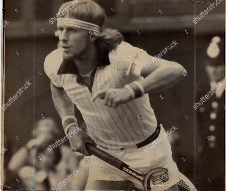 Bjorn Borg - Tennis Player Bjorn Borg The Defending Champion Met Stiff Resistance From Top Polish Player Wojtek Fibak Before Winning The First Set On Wimbledon's No 1 Court This Afternoon. Pkt4507-327939