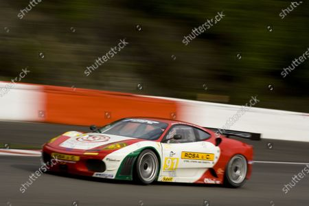 Spa, Belgium. 8th - 10th April 2009.  Andrea Montermini / Giacomo Petrobelli / Gabrio Rosa, (FBR) Ferrari 430 GT.   Action.  World Copyright: Drew Gibson/LAT