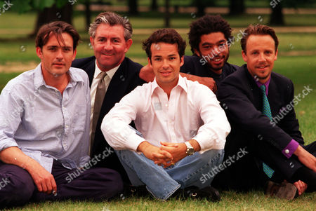 Businessmen Turned Models (l-r) Rupert Bevan James Mullen Henry Dent-brocklehurst Marc Hare And William Cawley.