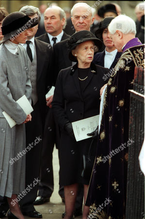 Enoch Powells Widow Pamela Follows The Coffin From St. Margaret's In Westminster London Where The Funeral Of Politician Enoch Powell Was Held.