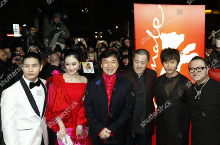 Steve Yoo, Peng Li, Jackie Chan, director Ding Sheng and the rest of cast