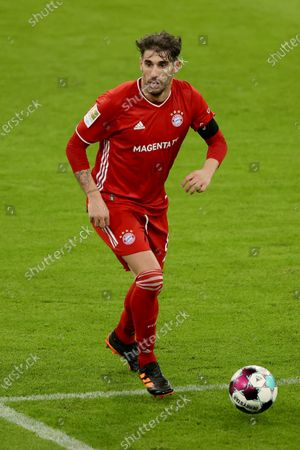 Stock Photo of Javier Martinez of FC Bayern Muenchen in action during the Bundesliga match between FC Bayern Muenchen and RB Leipzig at Allianz Arena in Munich, Germany, 05 December 2020.