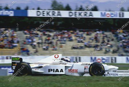 Hockenheim, Germany.  25-27 July 1997. Jos Verstappen (Tyrrell 025 Ford). Ref-97 GER 31. World Copyright - Martyn Elford/LAT Photographic