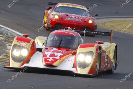 Test Day. Circuit de La Sarthe, Le Mans France.  23rd - 24th April.  Andrea Belicchi / Jean Christophe Boullion, Guy Smith, Rebellion Racing, Lola B10/60 Coupe - Toyota. Action. World Copyright: Alastair Staley/LAT Photographic  Ref: __O9T3687 jpg