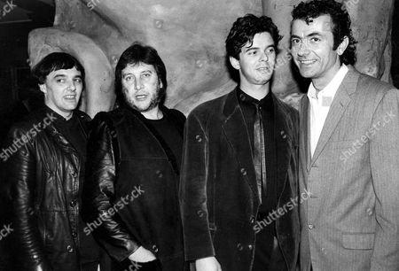 The Stranglers - Dave Greenfield, Jet Black, Jean-Jacques Burnel and Hugh Cornwell