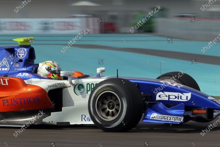 Stock Picture of YAS Marina Circuit, Abu Dhabi. Friday Practice. 12th November.  Adrian Zaugg (RSA, Trident Racing). Action. World Copyright: Charles Coates/GP2 Media Service  Ref: _DX5J8019 jpg