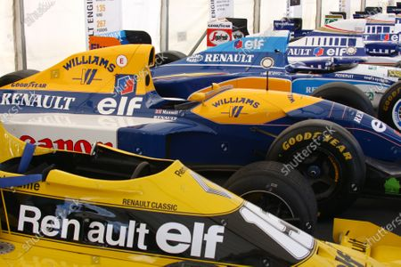 Goodwood Estate, West Sussex. 30th June - 3rd July 2011 A selection of Renault powered F1 cars. Detail. World Copyright: Lord Hutton/LAT Photographic