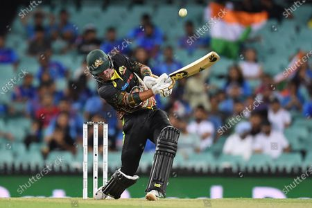Moises Henriques of Australia in action during the second T20 cricket match between Australia and India at the SCG in Sydney, Australia, 06 December 2020.