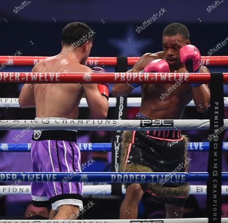 Stock Image of Errol Spence Jr., Danny Garcia