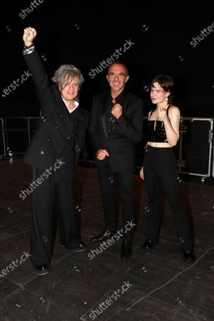 Stock Picture of Exclusive - Nicola Sirkis (Indochine), Nikos Aliagas, Christine and the Queens