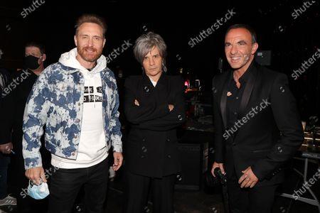 Exclusive - David Guetta, Nicola Sirkis (Indochine), Nikos Aliagas