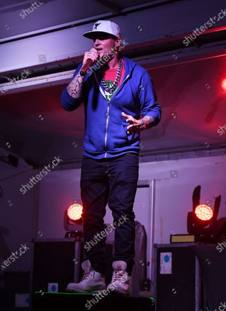 Vanilla Ice performs during the Wellington Chamber of Commerce Winterfest concert