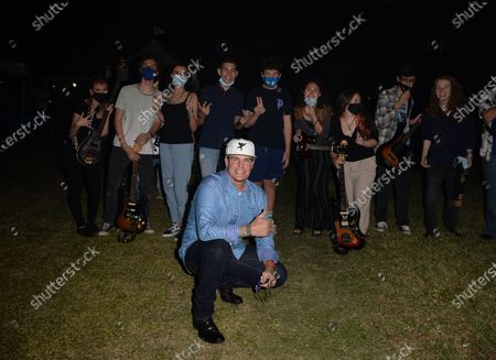 Vanilla Ice poses backstage during the Wellington Chamber of Commerce Winterfest concert