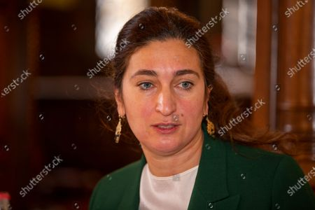 Flemish Minister of Environment, Energy, Tourism and Justice Zuhal Demir pictured during the presentation of 'Samen', a multidisciplinary approach of the prosecution and Flemish government to handle local crime, Sunday 06 December 2020, in Mechelen.
