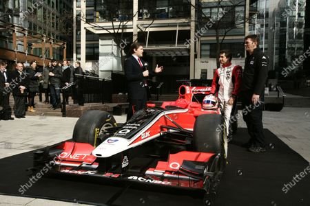 Editorial image of Russia, Marussia Virgin Racing, CNBC Partnership announcement. - 14 Mar 2011