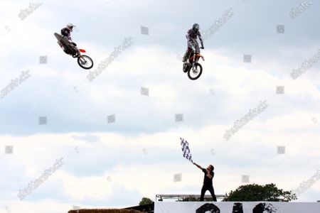 Goodwood Estate, West Sussex. 30th June - 3rd July 2011 Stunt riders perform for the crowds. Atmosphere. World Copyright: Lord Hutton/LAT Photographic