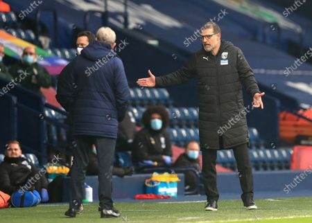 West Bromwich Albion's manager Slaven Bilic reacts during the English Premier League soccer match between West Bromwich Albion and Crystal Palace at the Hawthorns, West Bromwich, England