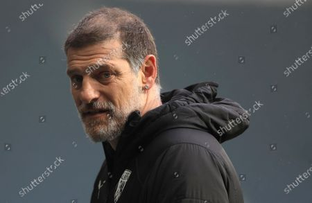 West Bromwich Albion's manager Slaven Bilic is interviewed after the English Premier League soccer match between West Bromwich Albion and Crystal Palace at the Hawthorns, West Bromwich, England