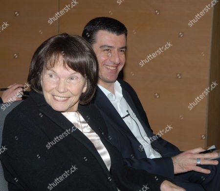 Danielle Mitterrand and Yorgos Archimandritis who wrote the book