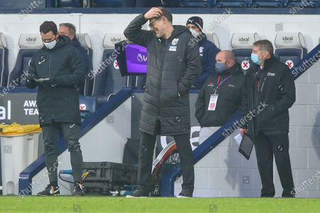West Bromwich Albion manager Slaven Bilic (C) reacts during the English Premier League soccer match between West Bromwich Albion and Crystal Palace in West Bromwich, Britain, 06 December 2020.
