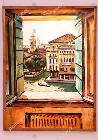 Tair Salakhov: Venice.View from the balcony, Hotel Terminus 1999.