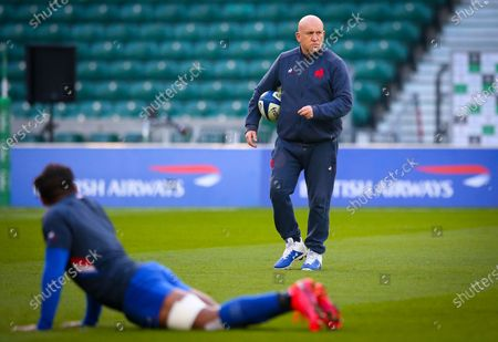 Stock Picture of England vs France. Shaun Edwards Defence Coach of France