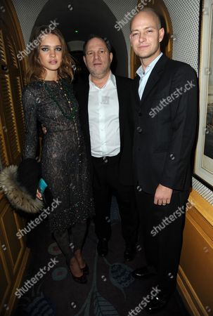 Stock Picture of Natalia Vodianova, Harvey Weinstein and Justin Portman