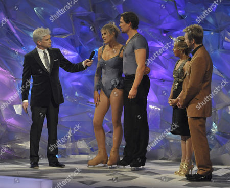 Presenters; Phillip Schofield with Sharron Davies and Pavel Aubrecht, also Jayne Torvill and Christopher Dean