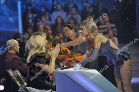 Sharron Davies and Pavel Aubrecht with the Judges