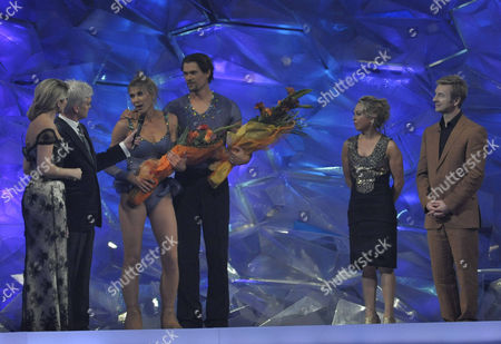 Presenters: Holly Willoughby and Phillip Schofield with Sharron Davies and Pavel Aubrecht, Also Jayne Torvill and Christopher Dean