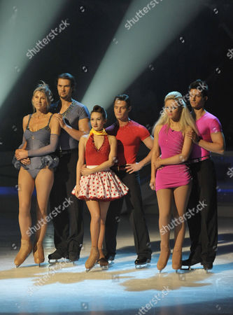 Sharron Davies and Pavel Aubrecht Danny Young and Frankie Poultney Emily Atack and Fred Palascak