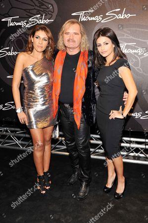 Thomas Sabo with wife Luz-Enith Sabo and Monica Cruz