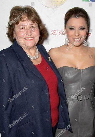 Eva Longoria and her mother Ella Longoria