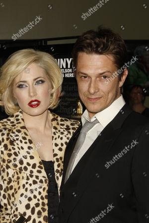 Peter Stebbings and fiance Charlotte Sullivan