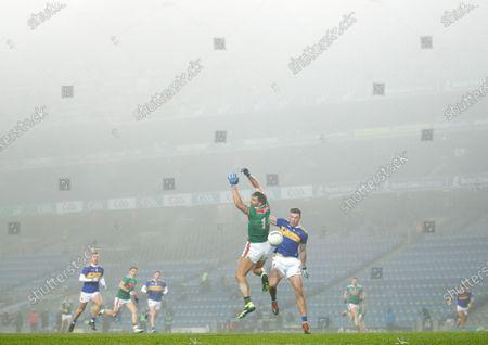 Stock Image of Mayo vs Tipperary. Mayo's Aidan O'Shea and Alan Campbell of Tipperary