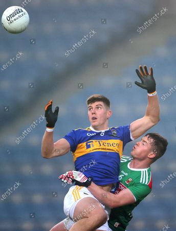 Mayo vs Tipperary. Tipperary's Steven O'Brien and Stephen Coen of Mayo