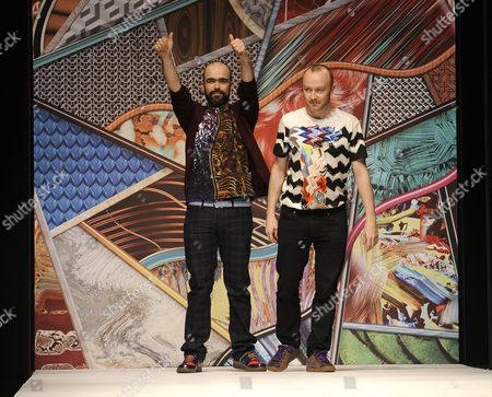 Stock Image of Bruno Basso and Christopher Brooke, Fashion Designers