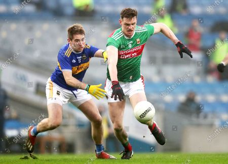 Mayo vs Tipperary. Tipperary's Bill Maher and Matthew Ruane of Mayo