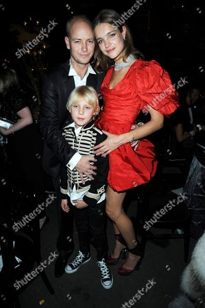Justin Portman and Natalia Vodianova with son Lucas Portman