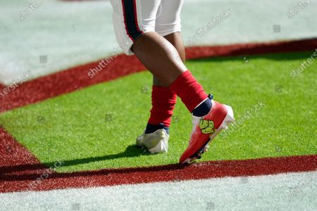 Houston Texans running back Duke Johnson (25) wears the My Cause My Cleats during pregame warmups before an NFL football game against the Indianapolis Colts, in Houston
